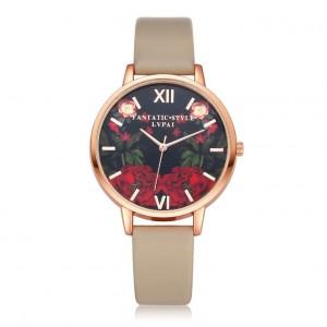 Dámske náramkové hodinky s motívom ruží