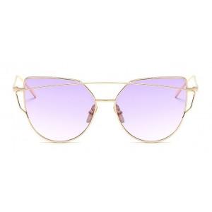 Štýlové fialové ombre slnečné okuliare