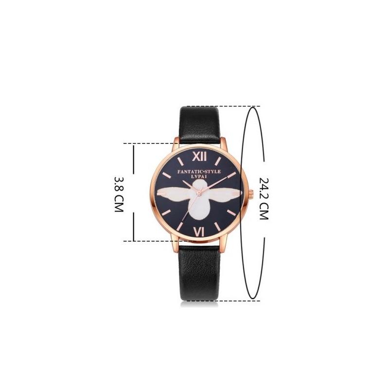 Svetlomodré dámske hodinky so zlato čiernym ciferníkom d96801ad9c