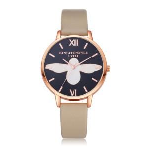 Dámske elegantné hodinky so zlato čiernym ciferníkom