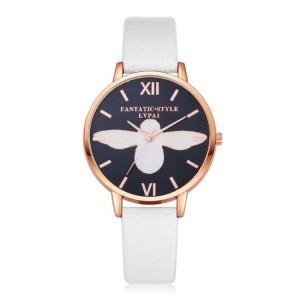 Zlato biele dámske hodinky na ruku s čiernym ciferníkom