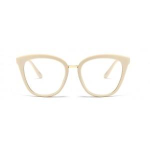 Dámské krémové slnečné okuliare s elegantnými rúčkami