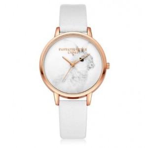 Zlato biele náramkové hodinky so zajačikom