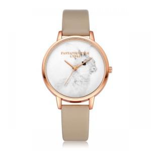 Zlato béžové dámske hodinky na ruku so zajačikom