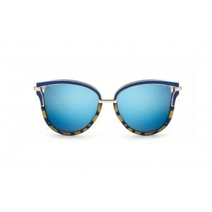Modro zlaté štýlové slnečné okuliare dámske