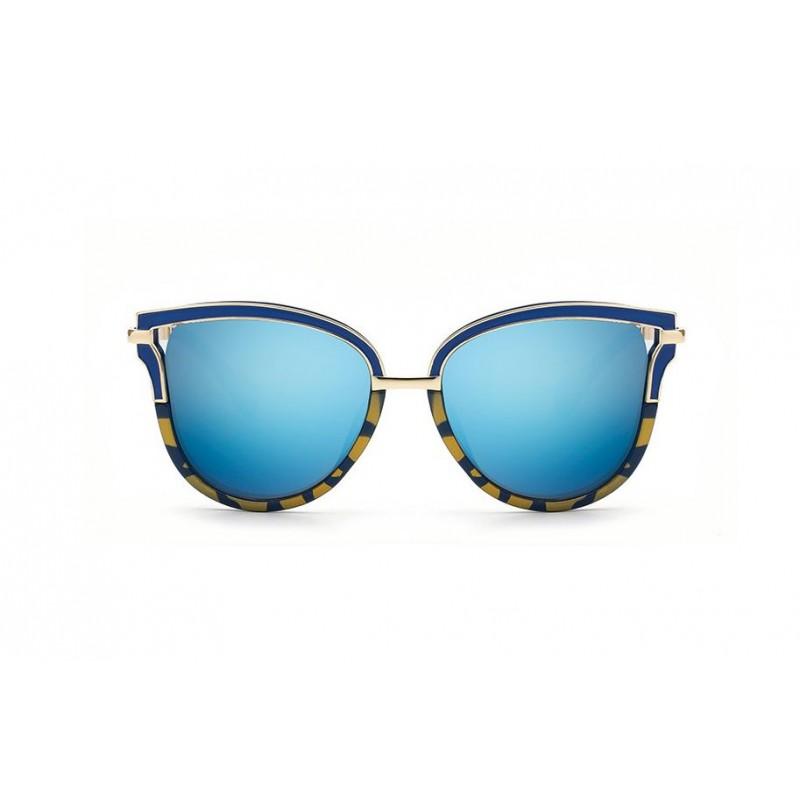 Modro zlaté štýlové slnečné okuliare dámske 8bf67c9771a