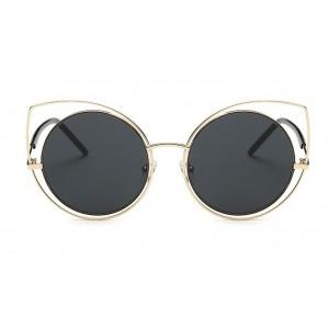 Slnečné okuliare čierno zlaté mačacie oči