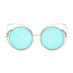 Moderné okuliare modré v tvare mačacích očí