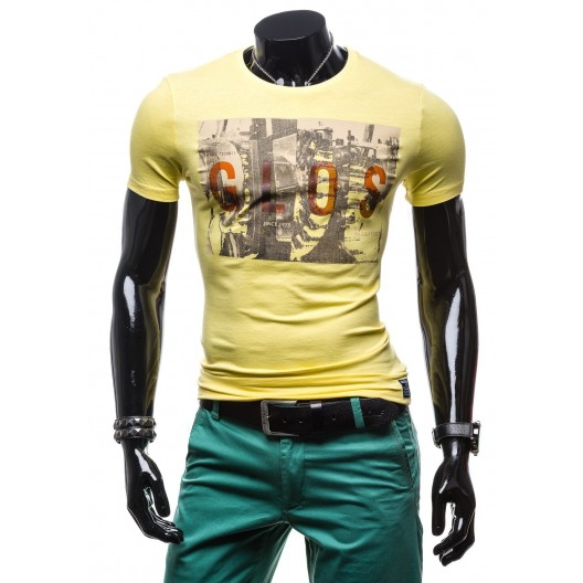 Žlté pánske tričká s potlačou