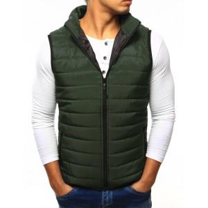 Pánska vesta bez kapucne v zelenej farbe