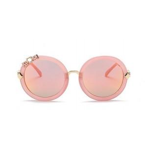 Dievčenské slnečné okuliare ružové s mašličkou