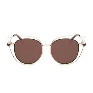 Luxusné hnedo zlaté slnečné okuliare dámske