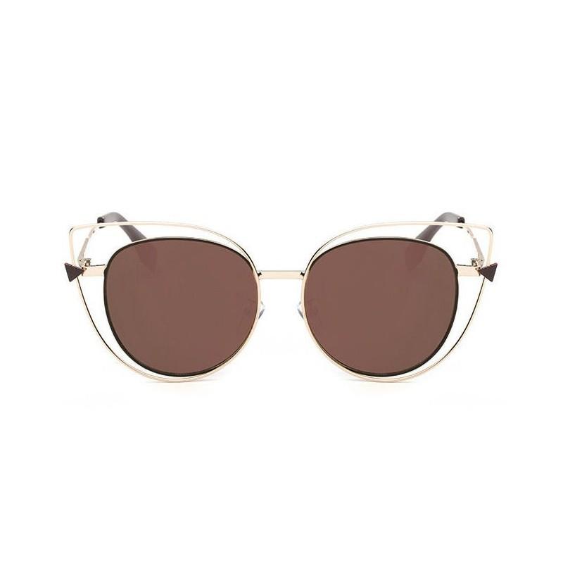 94d754faa Luxusné hnedo zlaté slnečné okuliare dámske
