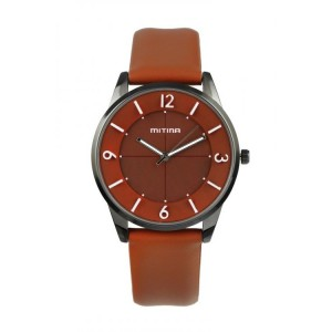 Hnedé náramkové hodinky dámske s arabskými číslicami