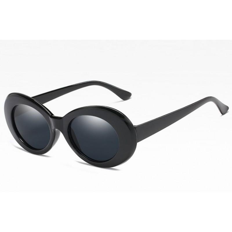 Retro oválne slnečné okuliare čierne e708c1d160b
