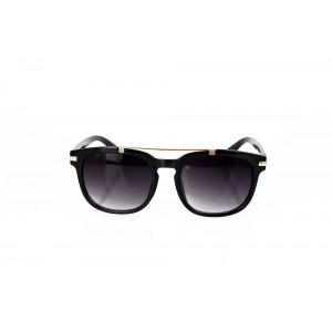 Lesklé čierne okuliare s kovovým prvkom