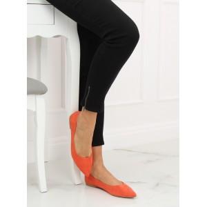 Oranžové dámske balerínky