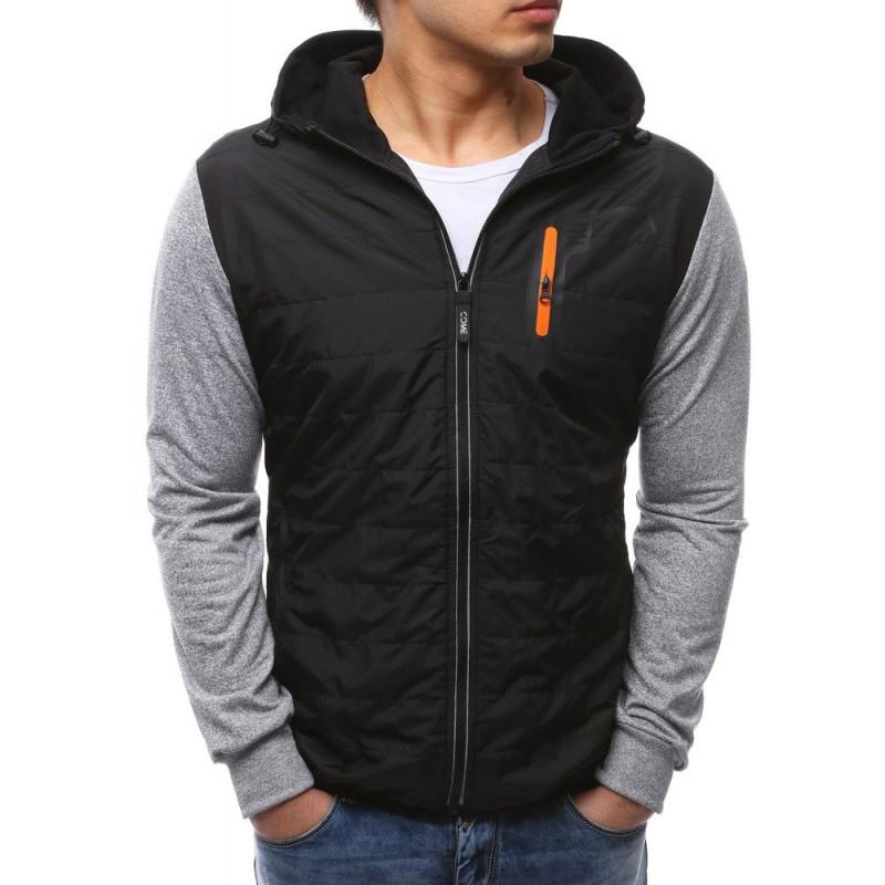 Štýlová prešívaná jarná bunda čiernej farby 8e60ab4998c