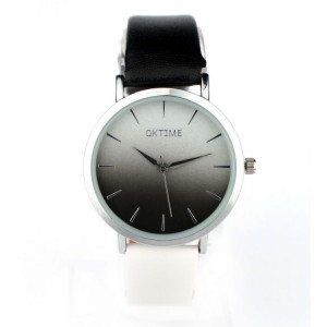 Luxusné dámske hodinky s čierno bielym remienkom
