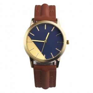 Elegantné dámske hodinky na ruku s hnedým remienkom