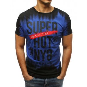 Originálne pánske tričko čierno modré