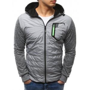 Pánska športová prechodná bunda sivej farby