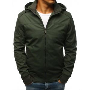 Elegantná prechodná bunda zelenej farby