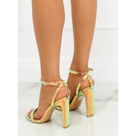 Luxusné plesové dámske sandále zlatej farby