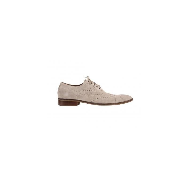 a7d25d2f81 Športovo elegantné pánske topánky z brúsenej kože slonovinovej farby ...
