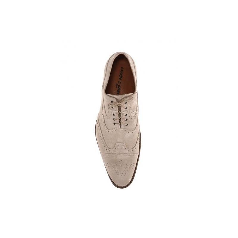 2681f490d9d8 Športovo elegantné pánske topánky z brúsenej kože slonovinovej farby ...