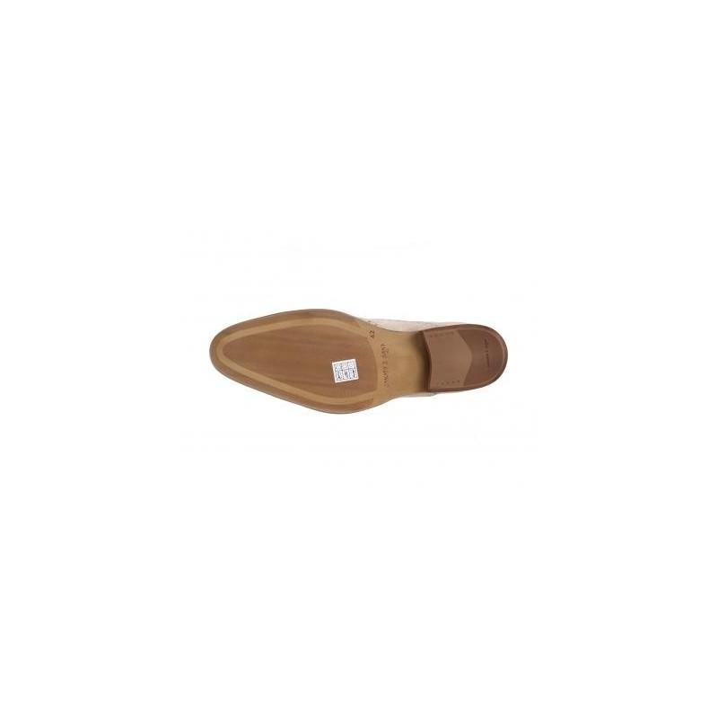7761300b9e89 Športovo elegantné pánske topánky z brúsenej kože slonovinovej farby ...