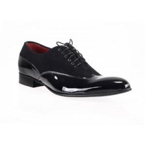 Čierné lesklé lakovky talianská obuv Comodo E Sano