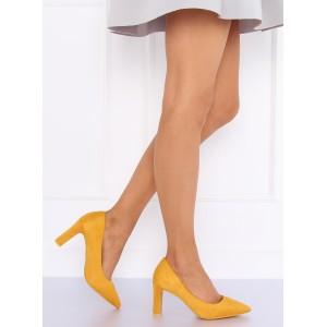 Žlté semišové lodičky pre dámy na ples