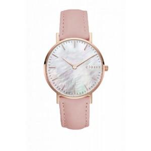 Módne dámske hodinky s bielym ciferníkom a ružovým remienkom