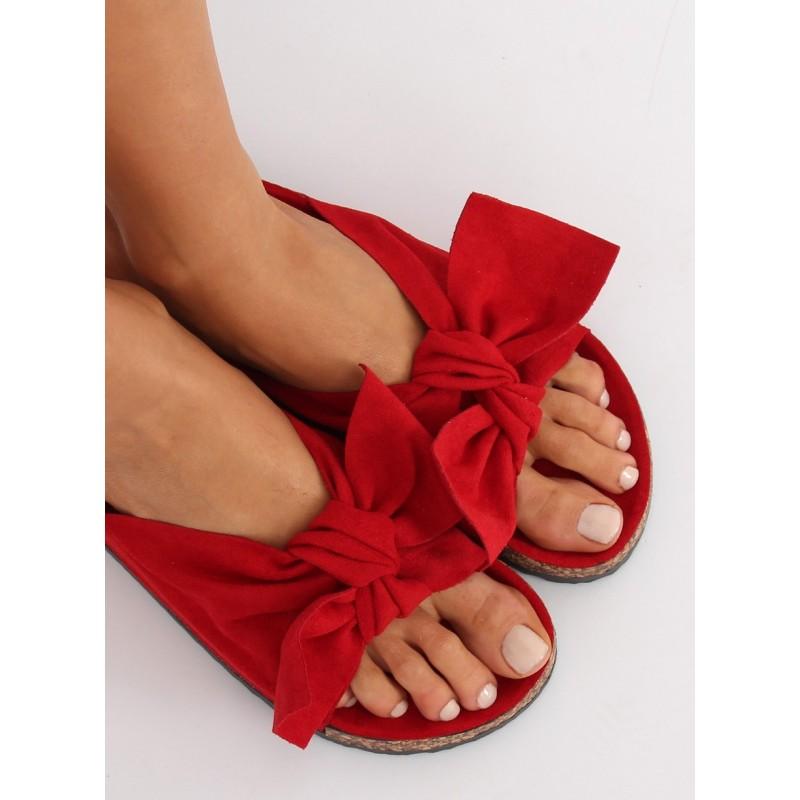 1b68be2bbb Luxusné dámske šľapky červenej farby na korkovej podrážke