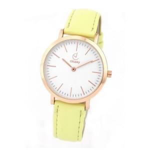 Dámske hodinky na ruku v žltej farbe menšieho dizajnu