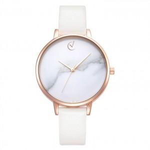 Dámske hodinky s mramorovým dizajnom a zlato ružovým ciferníkom