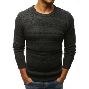 Elegantný pánsky pletený sveter čiernej farby