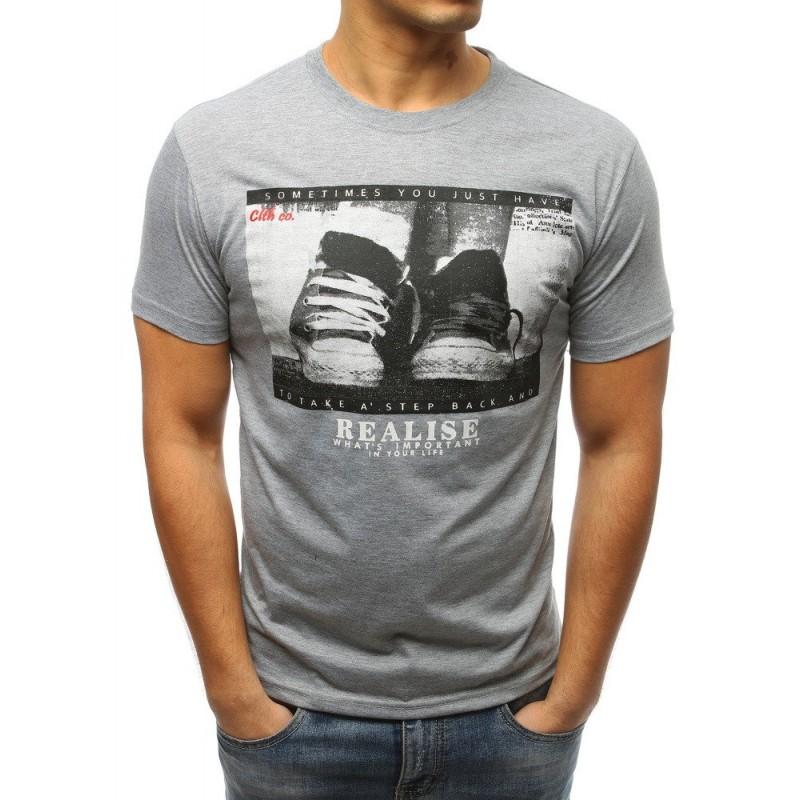 a83d04bb2 Pánske tričko s krátkym rukávom v sivej farbe