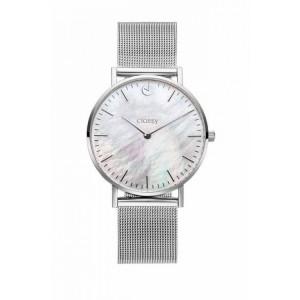 Elegantné dámske hodinky na ruku strieborné s kovovým remienkom