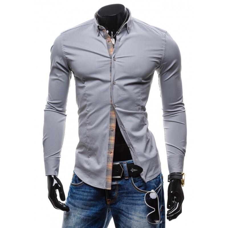 217bcbf4ef0f Elegantné pánske košele sivej farby - fashionday.eu