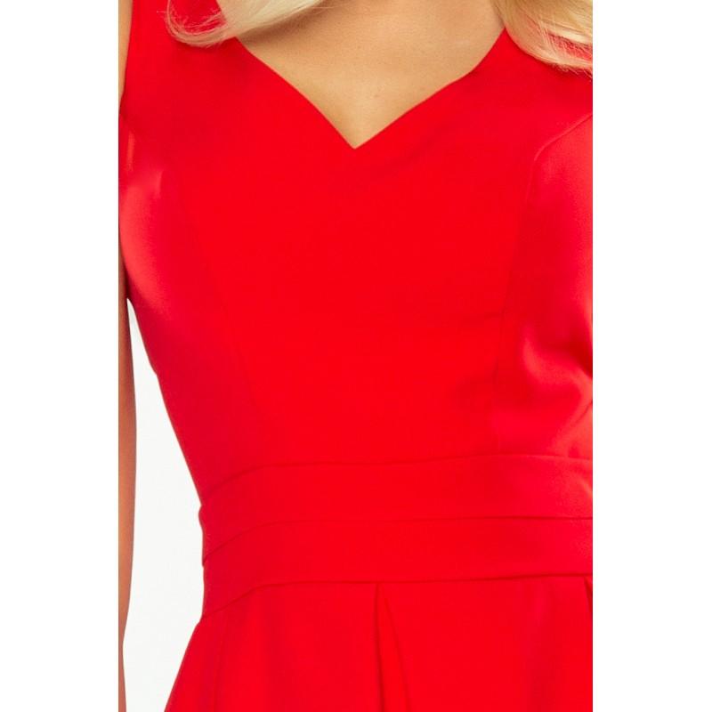 0fd891212c83 Červené krátke spoločenské šaty s vreckami