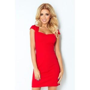 Červené koktejlové krátke šaty dámske