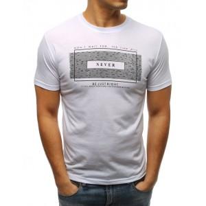 Pánske biele tričko s nápisom