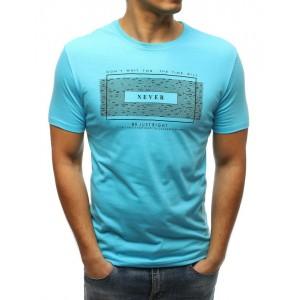 Svetlomodré pánske tričko na leto