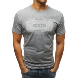 Pánske krátke tričko v sivej farbe