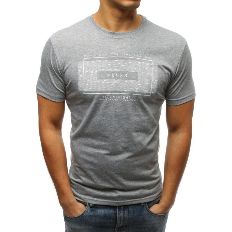 fb9ac97c72b0 Pánske krátke tričko v sivej farbe