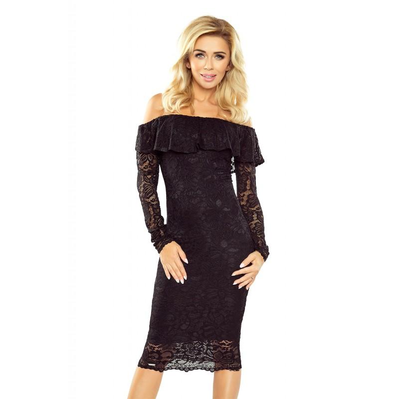 6bbf4754d313 Španielske čipkované dámske šaty s odhalenými ramenami a dlhými rukávmi
