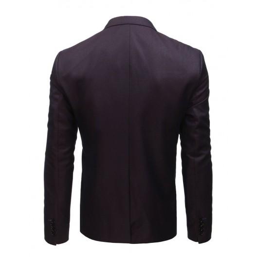 Elegantné pánske bordové sako s jedným gombíkom