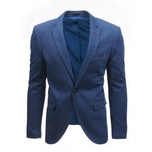 Pánske elegantné slim sako modrej farby